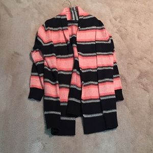 Navy and pink striped cardigan